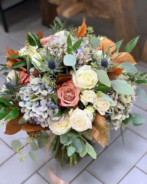 Pretty Hydrangea Wedding Flower Globe