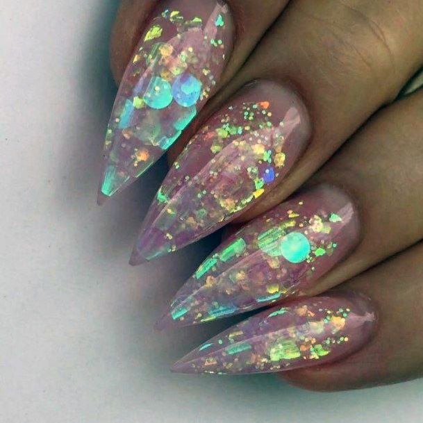 Pretty Iridescent Nails Women