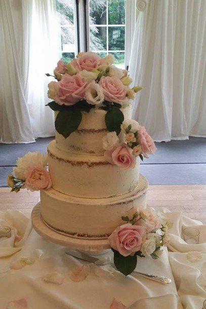 Pretty Naked Wedding Cake Timeless Cakes 4u