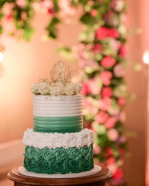 Pretty Rustic Wedding Cake Toppers