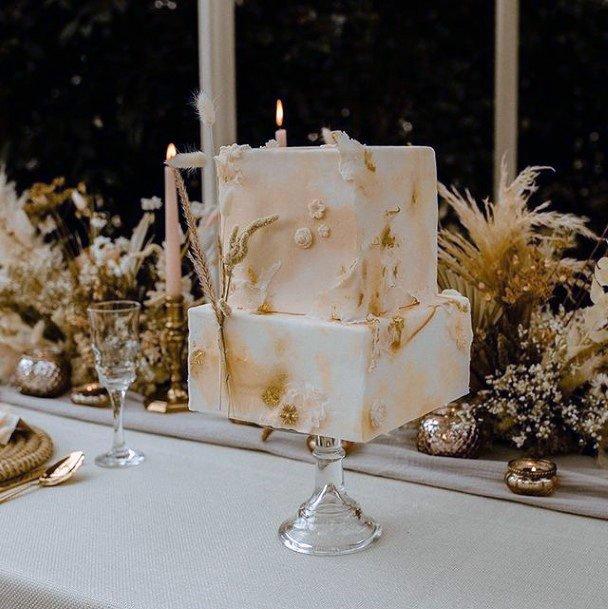 Pretty Square Wedding Cake
