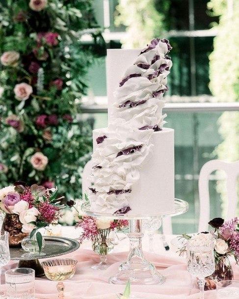 Pretty Wedding Cake White 2 Tier