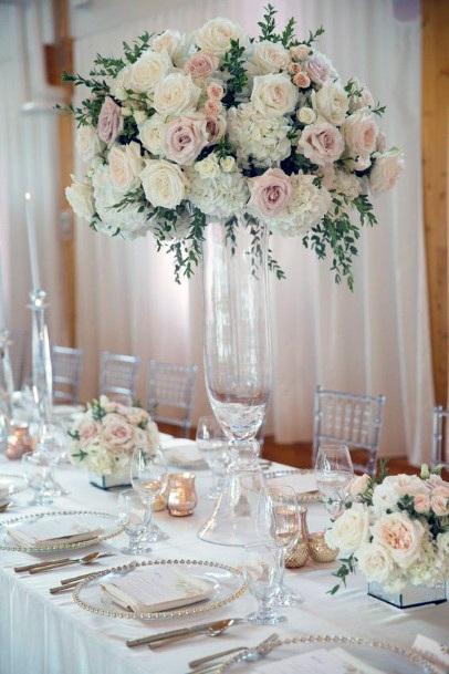 Princely Blush Wedding Flowers Vase