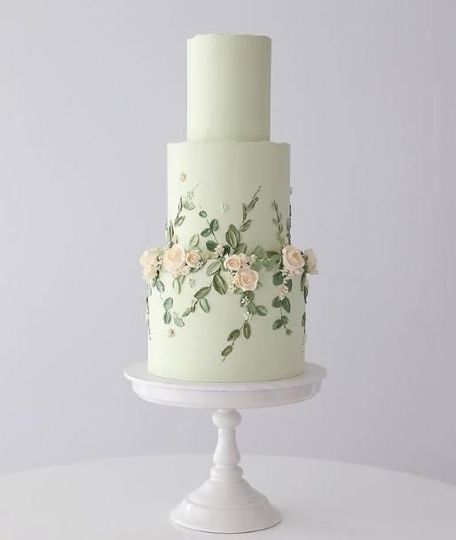 Princely White Buttercream Wedding Cake