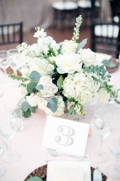 Pristine White Hydrangea Wedding Flowers