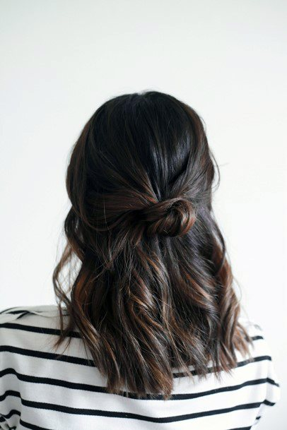 Prom Hairstyle Half Up Knot For Women