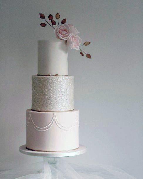 Pure White 3 Tier Wedding Cake Women