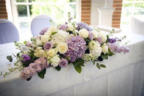 Purple And White Bunch Of Hydrangea Wedding Flowers
