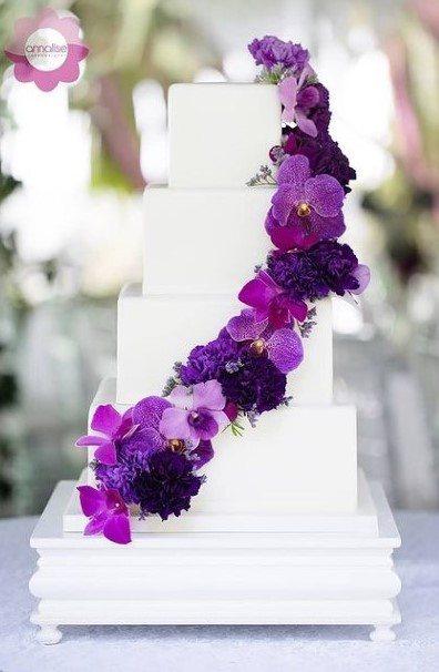 Purple Creepers Wedding Cake