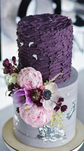 Purple Shaded Buttercream Wedding Cake