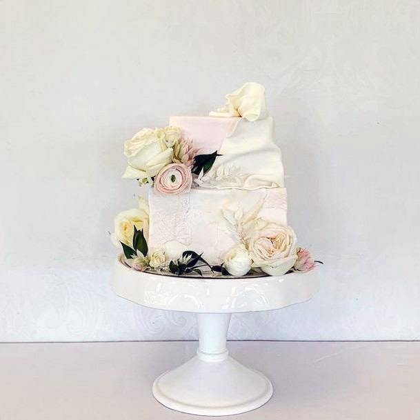 Quirky Square Wedding Cake