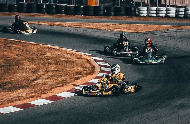 Race Go Karts Around The Track Cheap Date Night Ideas
