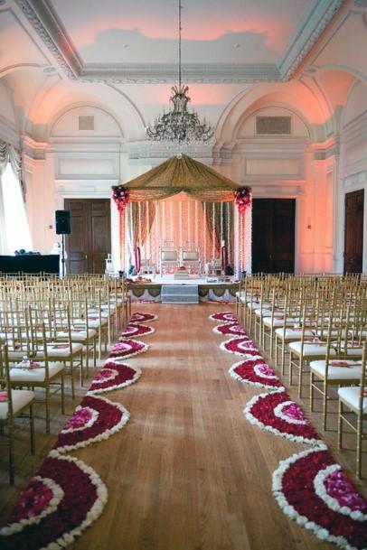 Rangoli Art Aisle Indian Wedding Flowers