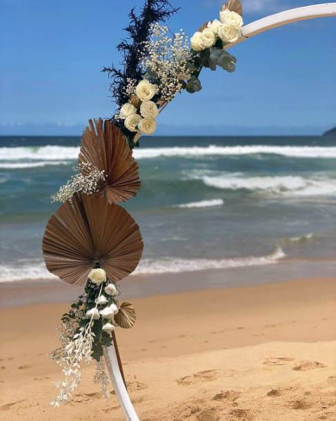 Rare Beach Wedding Flowers