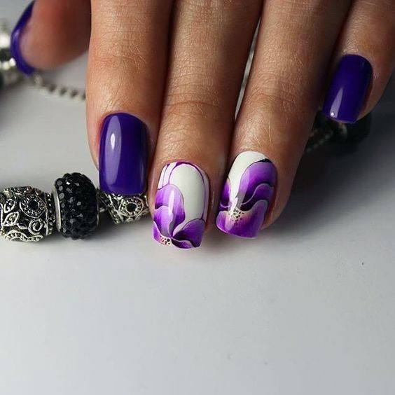 Rare Purple Painted Orchid Nails