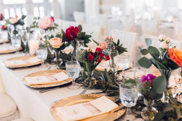 Ravishing August Wedding Flowers On Table