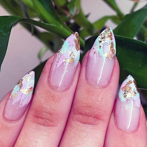 Razor Sharp Mint Nails Women