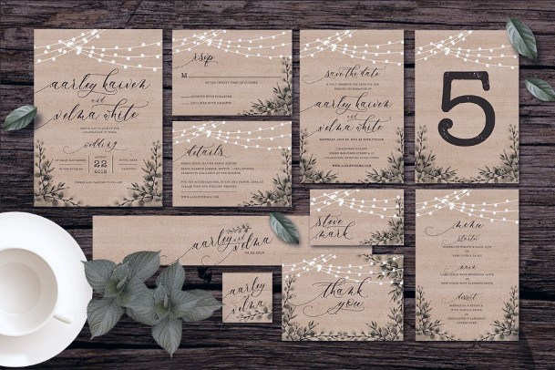 Real Wood Invitation Suite Inspiration Rustic Wedding Ideas