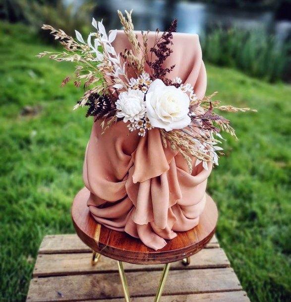 Realistic Cloth Design Unique Wedding Cake