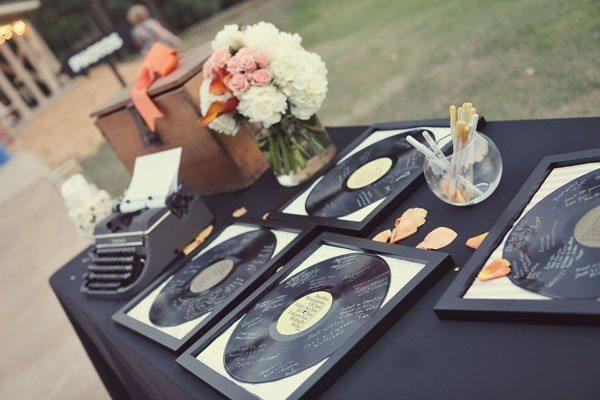 Record Vinyl Wedding Guest Book