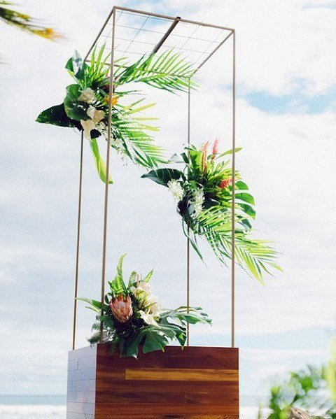 Rectangular Arrangement Hawaiian Wedding Flowers