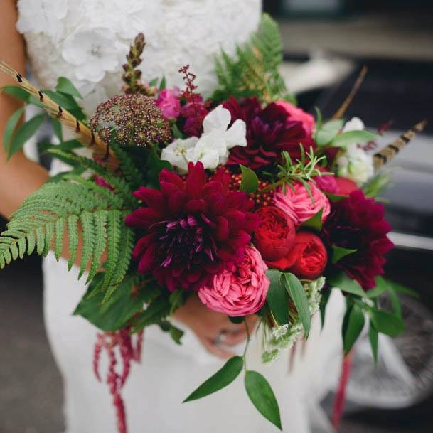 Red And Pink Flowers Wedding