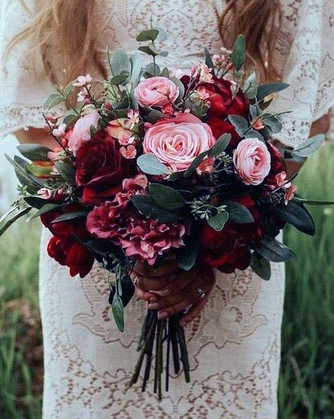 Red And Pink Rose Flower Bouquet