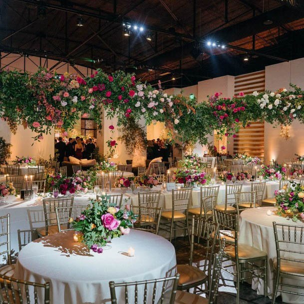 Red And White Rich Flowers Wedding