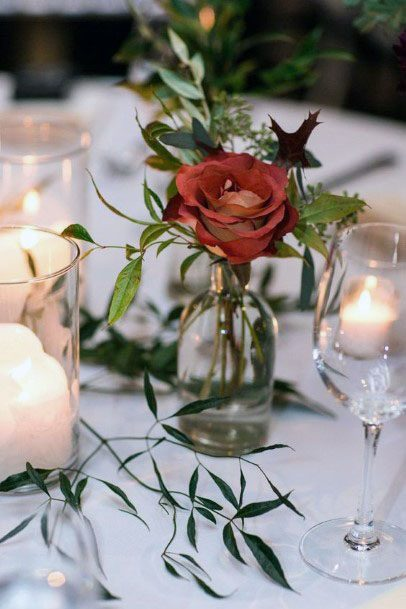 Red Rose November Wedding Flowers