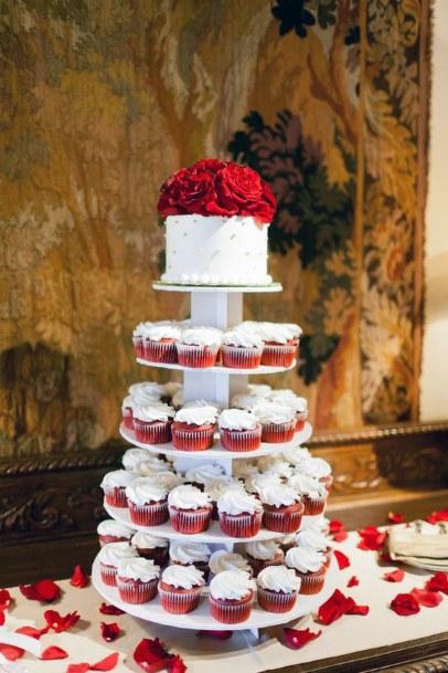 Red Velvet Wedding Cupcake