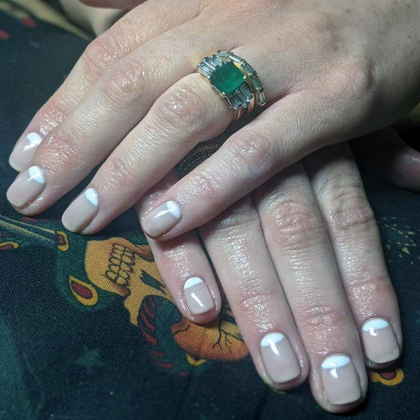 Reverse French Mani For Women