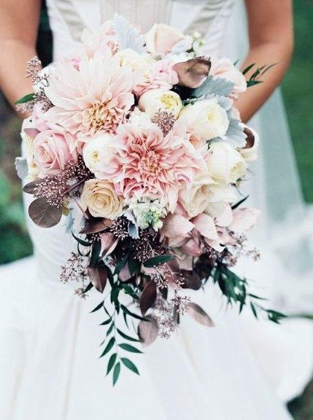 Rich Blush Wedding Flowers