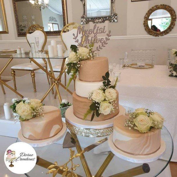 Rich Chocolate Wedding Cakes