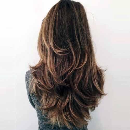 Rippling Brown Wavy Hair Women