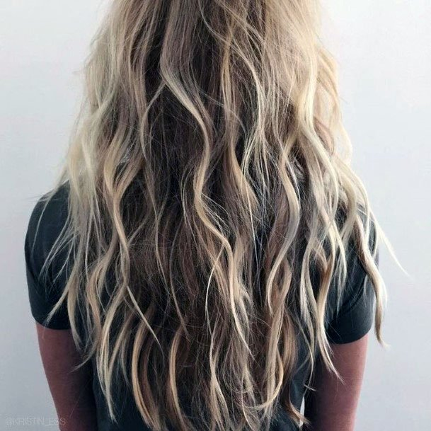 Rippling Salty Long Hairstyle Women