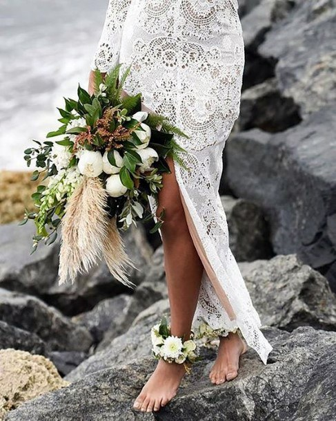 Rocky Beach Wedding Boho Wedding Flowers