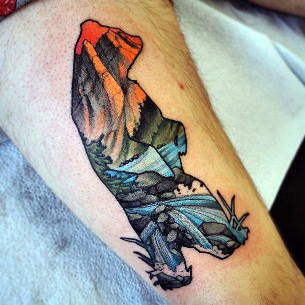 Rocky Bear Silhouette Tattoo For Women