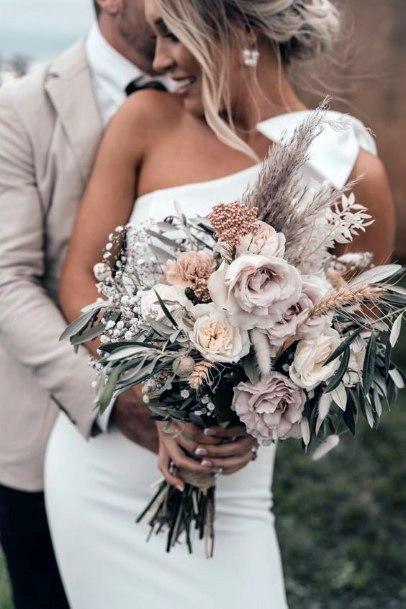 Romantic Bouquet Boho Wedding Flowers