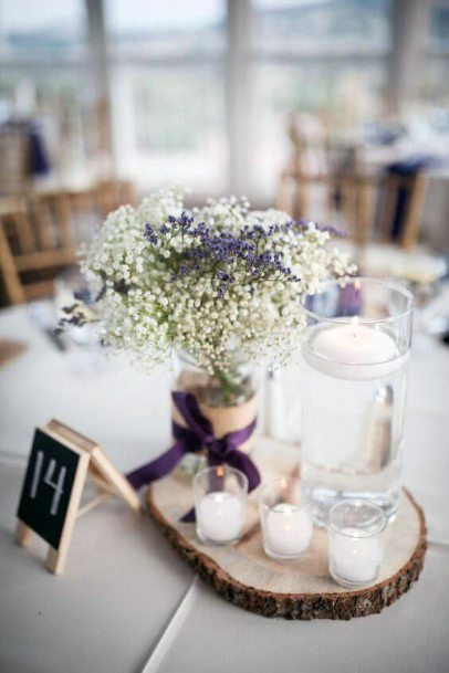 Romantic Lavender Flower Arrangement Wedding