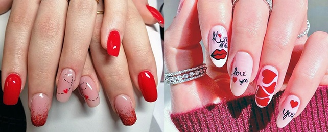 Top 60 Best Romantic Nail Designs For Women – Loving Romance Manicures