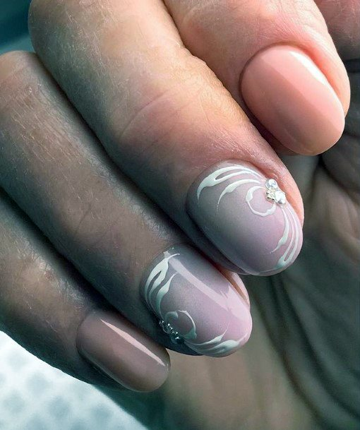 Romantic Nails Women With Crystal