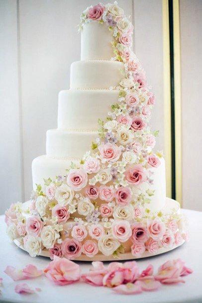 Rose Creeper Elegant Wedding Cakes Women