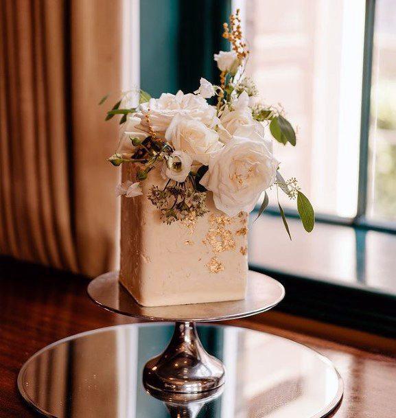 Rose Gold Square Wedding Cakes