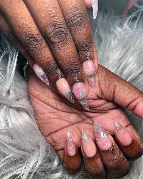 Rose Quartz Glass Nails Women