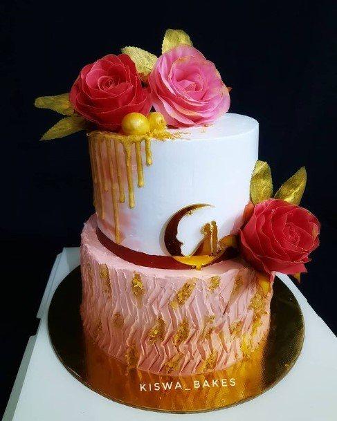 Roses 2 Tier Wedding Cake