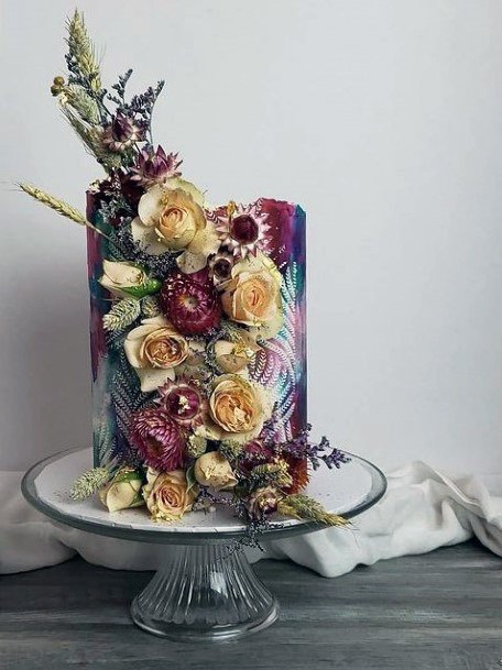 Roses On Fall Wedding Cakes For Women