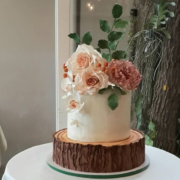 Roses Rustic Wedding Cake Toppers