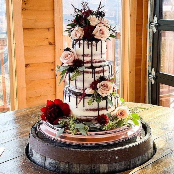 Roses Themed Rustic Wedding Cake Toppers