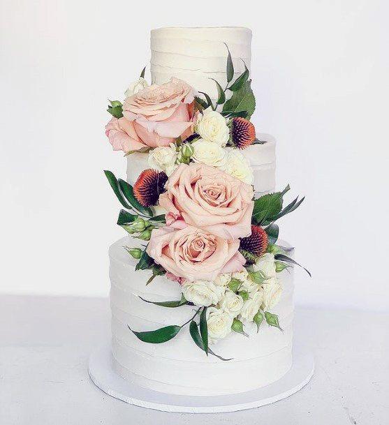 Rosy 3 Tier Wedding Cake Women