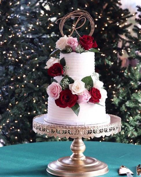 Rosy Red Velvet Wedding Cake